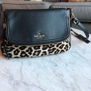 Kate Spade Leopard/Brown/Black Leather Crossbody